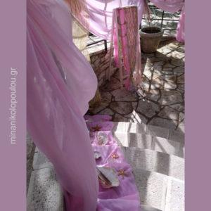 Διακόσμηση εκκλησίας με θέμα γοργόνα σε ροζ & χρυσό