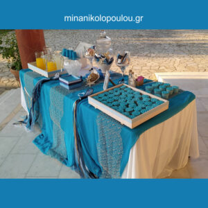 Διακόσμηση Βάπτισης με θέμα Αστερίες & Αχιβάδες