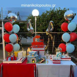Διακόσμηση παιδικού πάρτι με θέμα το Τρένο